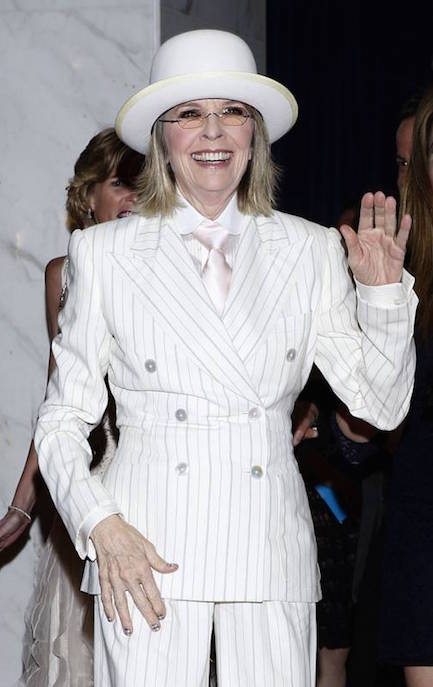 diane keaton, vanity fair cover photographed by annie leibovitz, steal her style vickiarcher